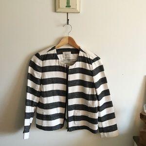 Loft striped blazer